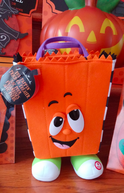 Hallmark Halloween decor Tricks treat bag Mambo