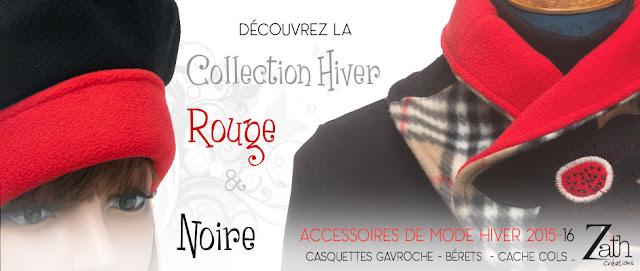 collection hiver 2015-16  zath créations rouge et noire