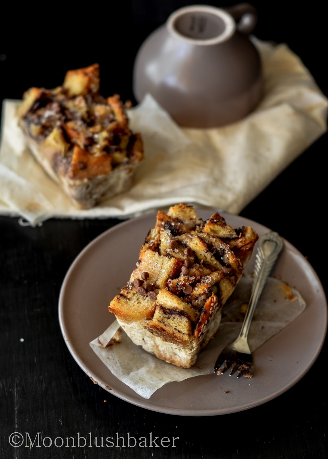 "Why Winter? /-/ Nutella ""muffin"" bread pudding 