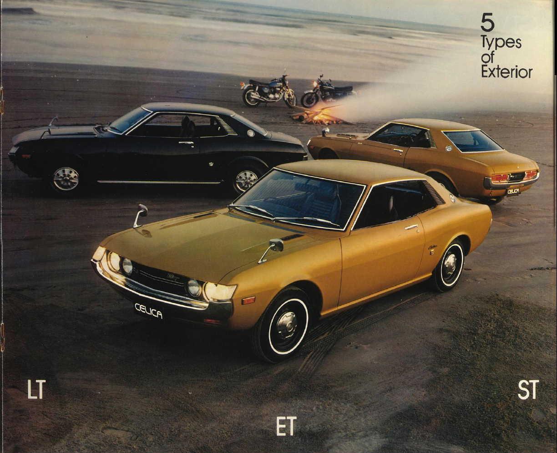 Toyota Celica I, sportowe japońskie coupe, z napędem na tył, dawna motoryzacja, nostalgic, stary model, fotki, broszura