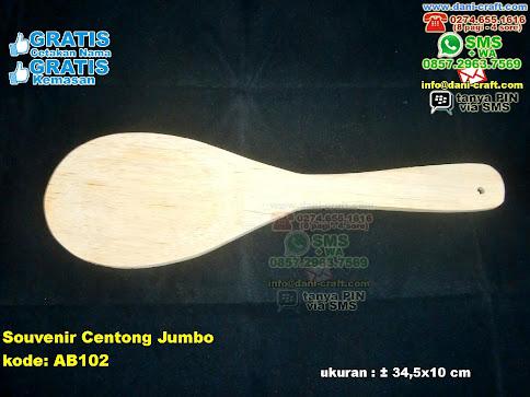 Souvenir Centong Jumbo Kayu