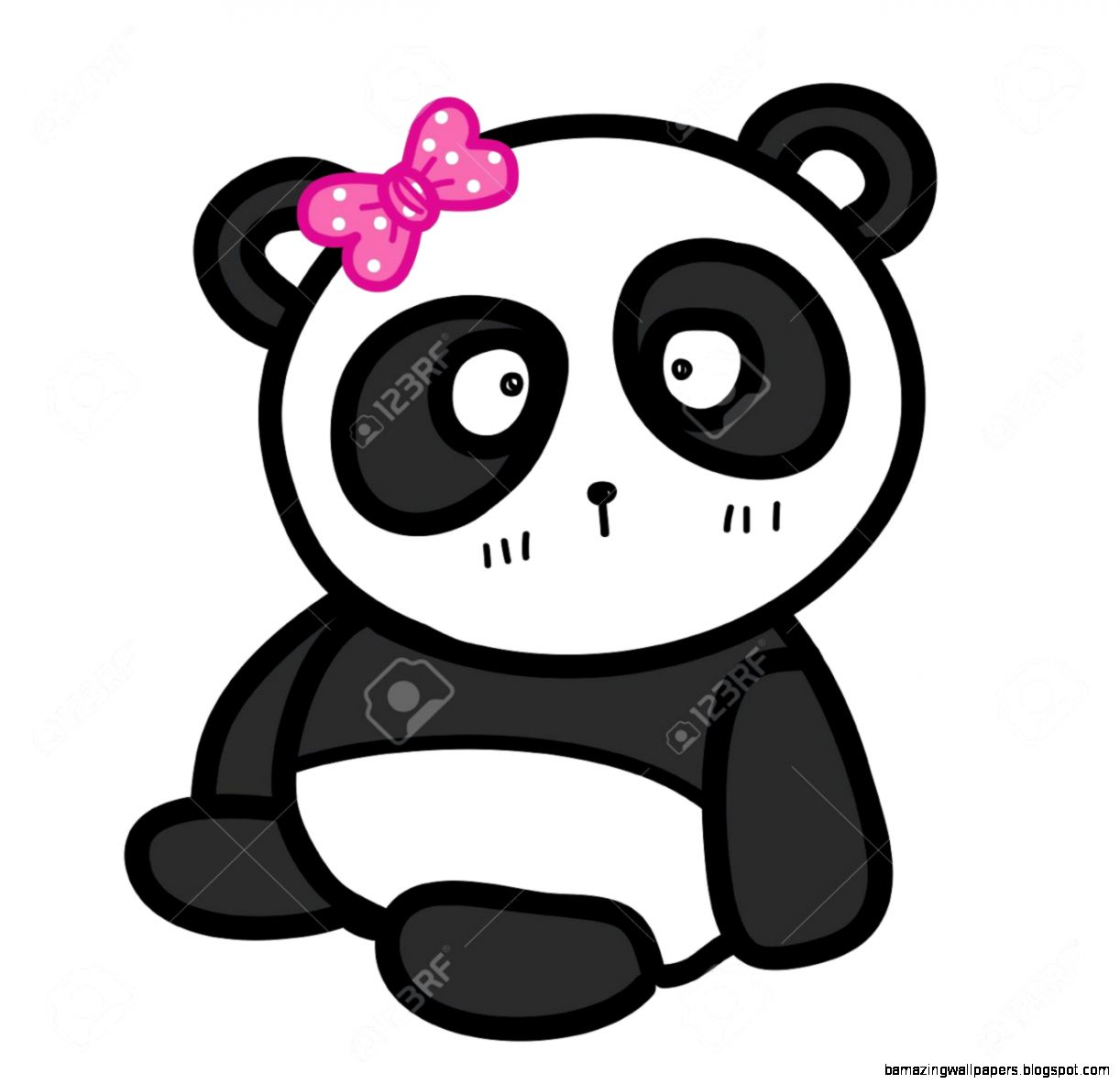 How to draw a cute baby panda - photo#12