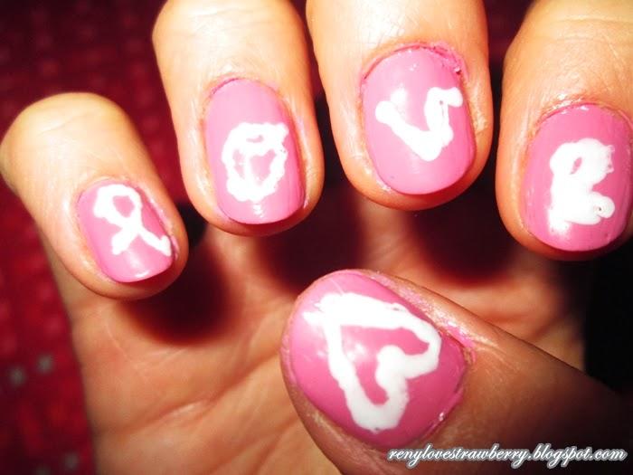 Strawberry Love by Reny: ManiMonday: LOVE Nails Design