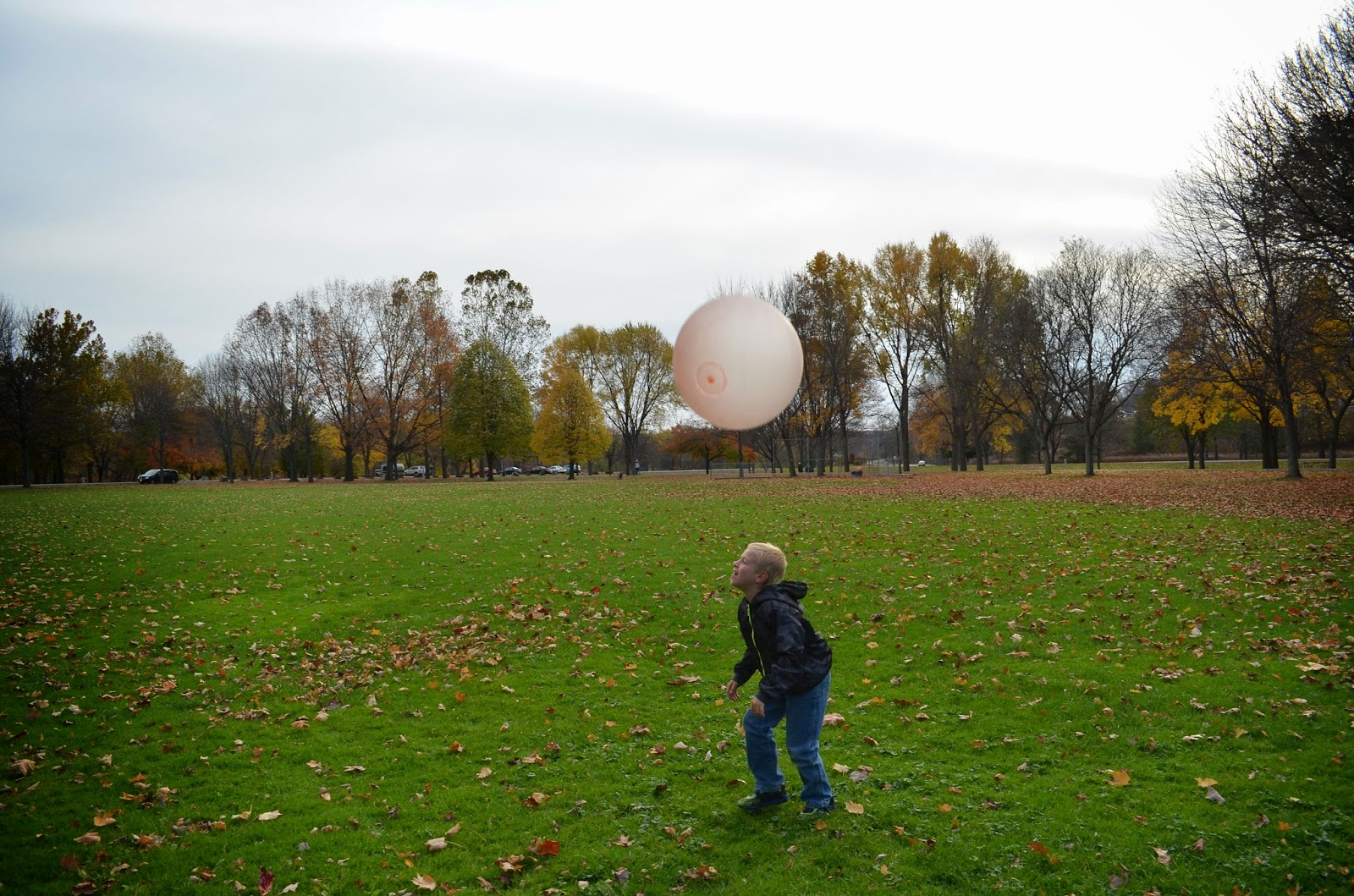 Enjoying a warm Fall day with our Wubble Ball! #wubbleball