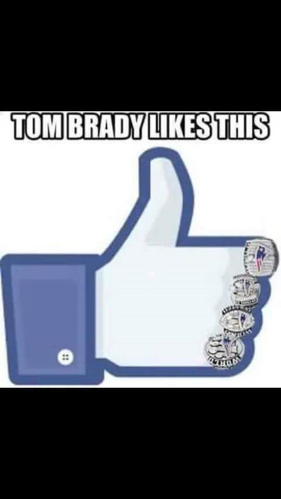 #4rings #patriots #thumbsup #nfl #tombrady, #likesthis, #facebook, .- tom brady likes this