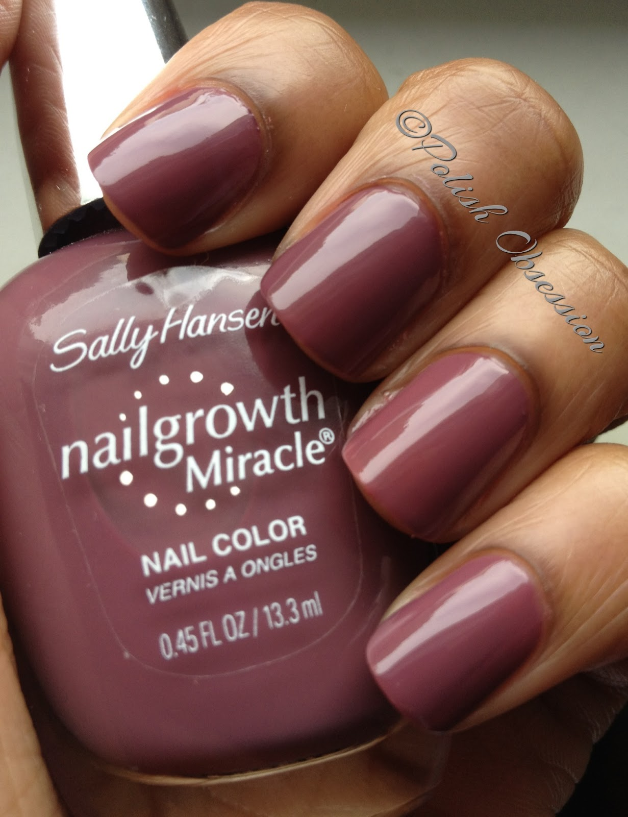Sally Hansen Nailgrowth Miracle Swatches & Review | Polish Obsession