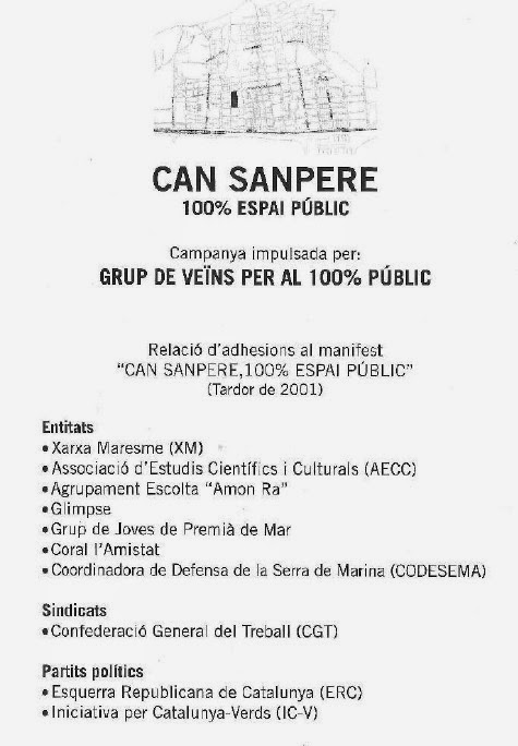 Defensant Can Sanpere 100% públic (des de 2001)