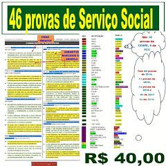 Agora são 46 provas para estudo Serviço Social