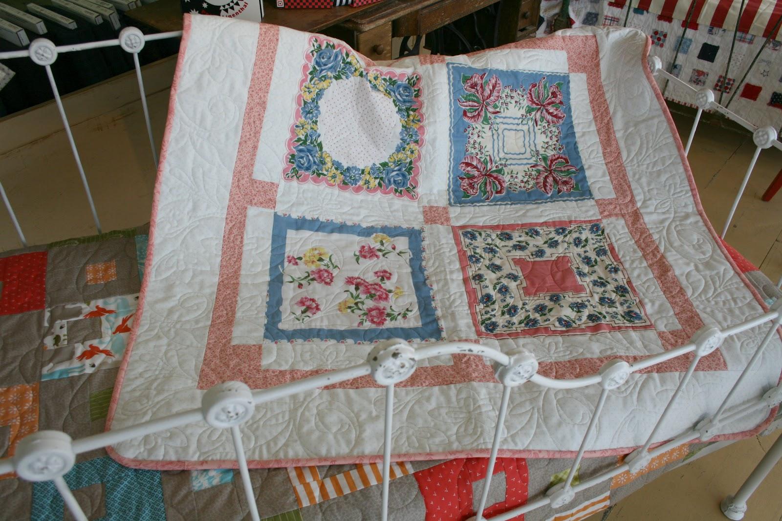 The quilt barn baby hankie quilt tutorial