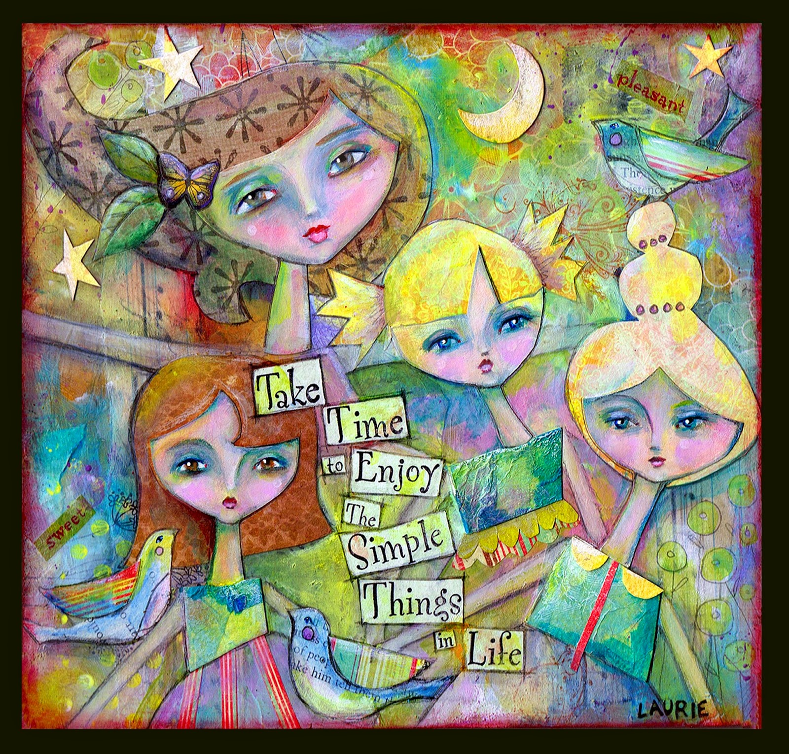 Mixed Media Family Art