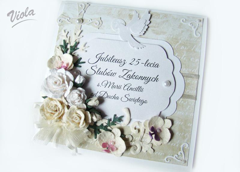 pamiątka jubileuszu ślubów zakonnych