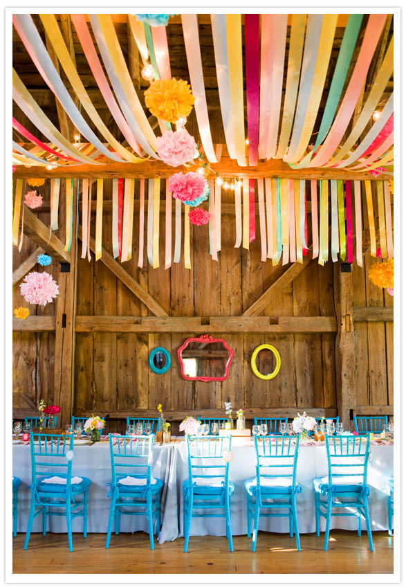 Wedding Wednesday Married in Maine A BarnChic Celebration of Color