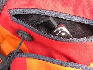 Earphones Outlet in Hydration Pack Pocket