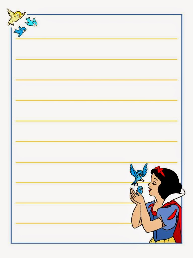 snow white  free printable notebook