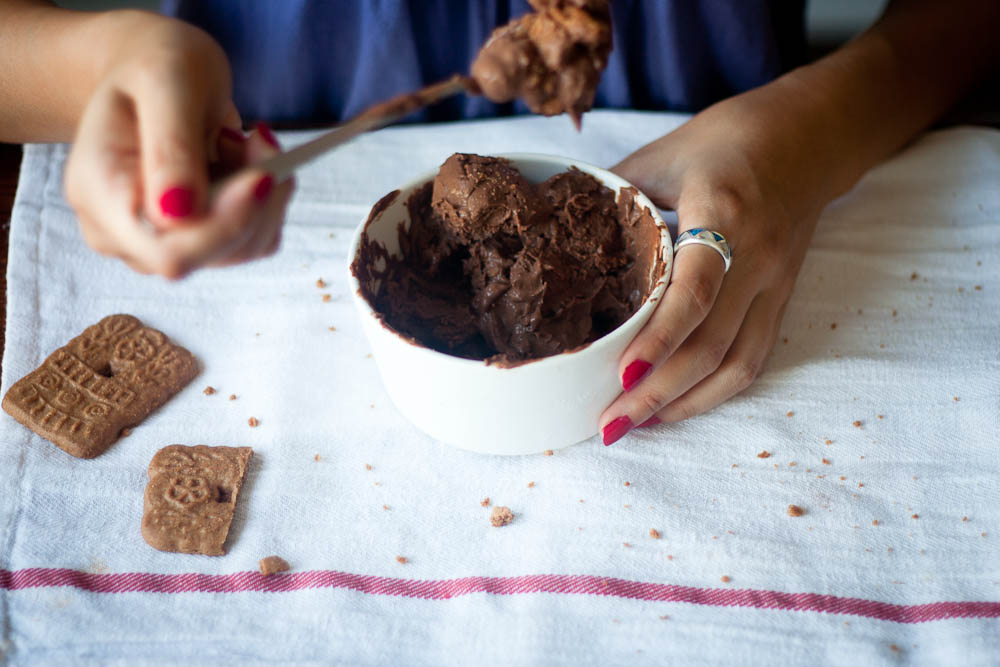 Buttered Up: Chocolate Cinnamon Gelato with Speculoos
