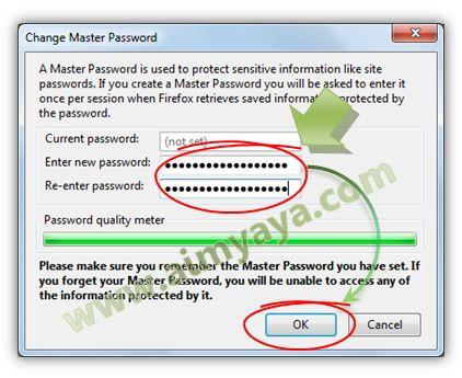 Gambar: Memberikan  Master Password yang baru