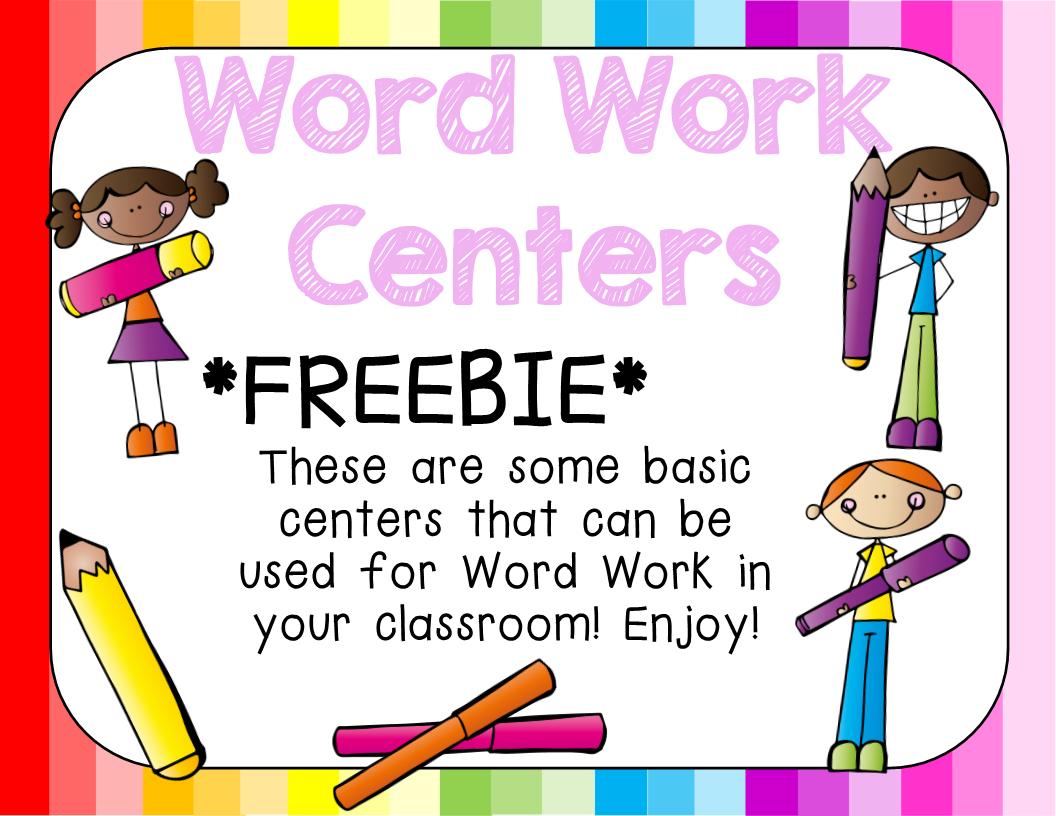 Word Work Centers Freebie!!! - Tech and Teachability