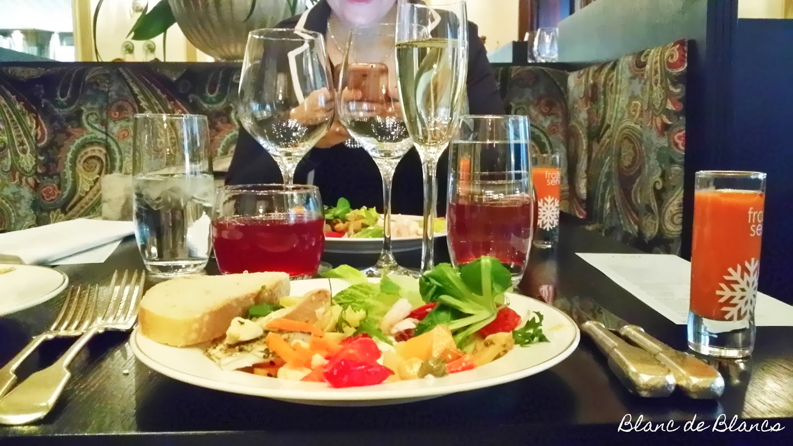 Brasserie Kämp brunssin alkuruokia - www.blancdeblancs.fi
