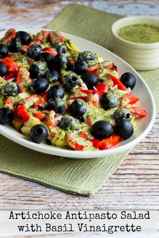 ... Antipasto Salad with Basil Vinaigrette found on KalynsKitchen.com