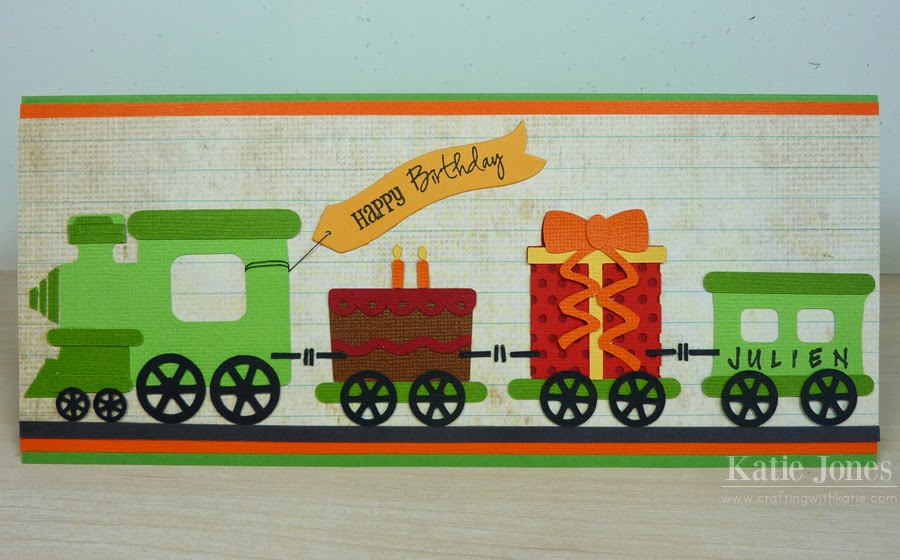 Crafting With Katie 2 Year Old Train Birthday Card