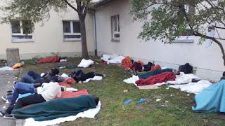 Fluchlinge in Munchen - Foto Bernd Kastner