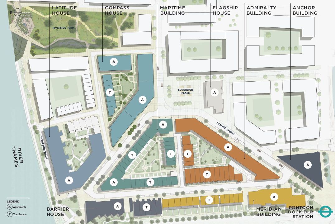 Royal Wharf Site Plan