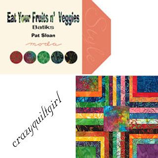 Moda EAT YOUR FRUITS & VEGGIES BATIKS Quilt Fabric by Pat Sloan