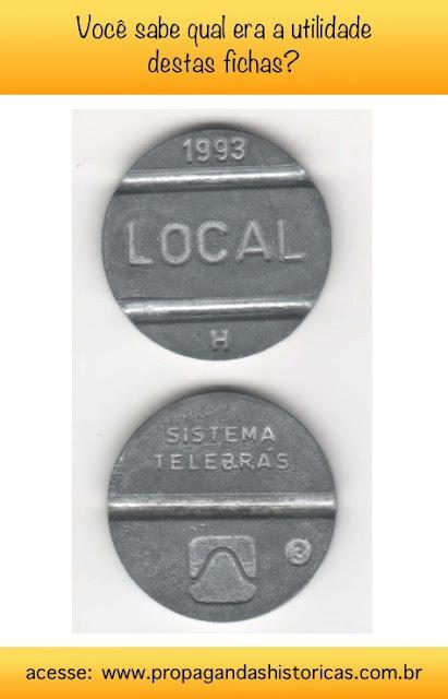 Conheça a história das fichas telefônicas. Eram usadas em décadas passadas para efetuar ligações nos telefones públicos.