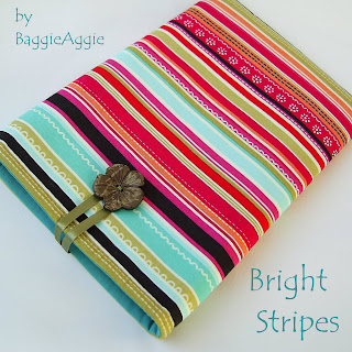 Striking stripey Kindle Pouch for ereader owners who want something different!