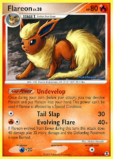Flareon Pokemon Card Rising Rivals set
