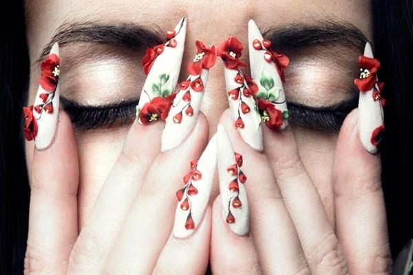 νύχια 3D, τρισδιάστατα