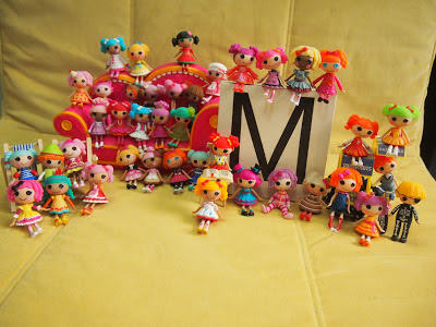 last year and my collection grew to 40 mini lalaloopsy dolls