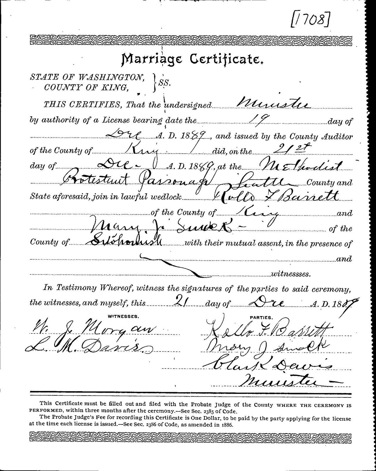 Barrett Family Of Minneapolis Since 1875 Rollo Barrett Marriage