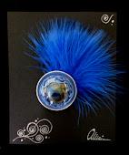 Plumón azul