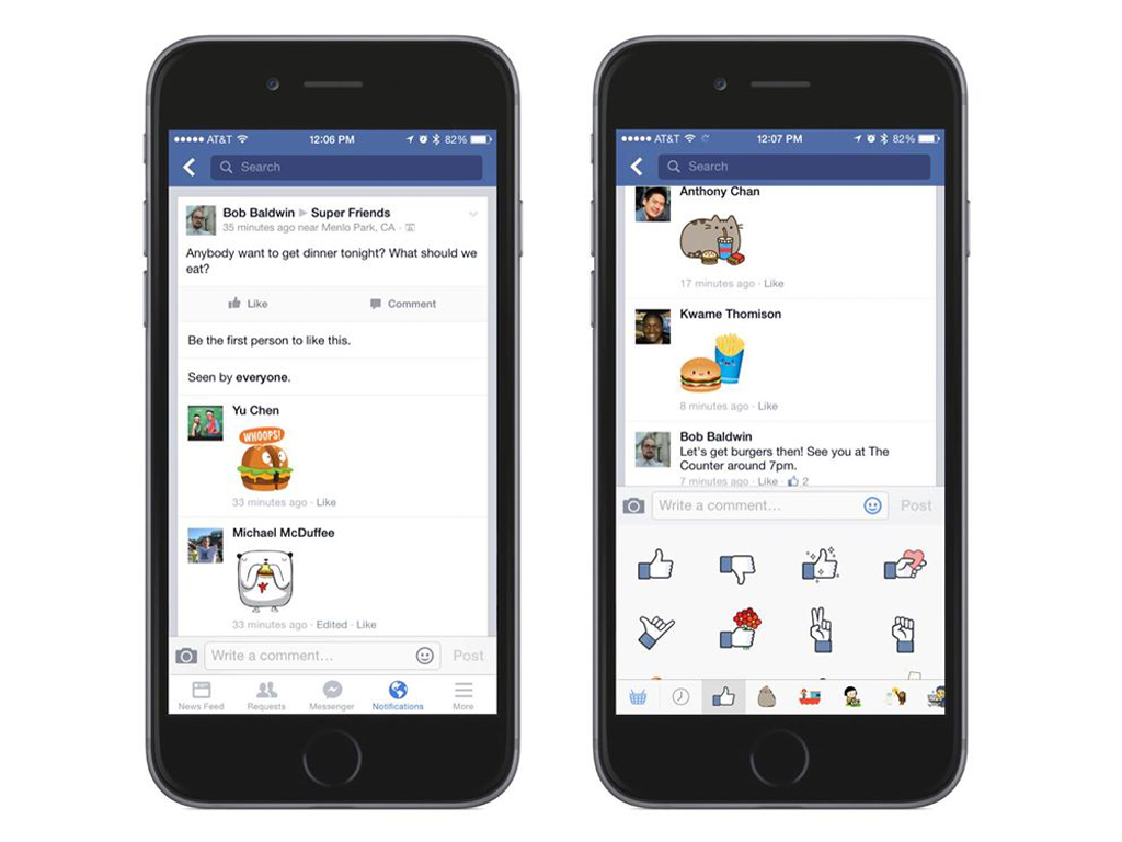 You Can Now Send Facebook Stickers in Comments!