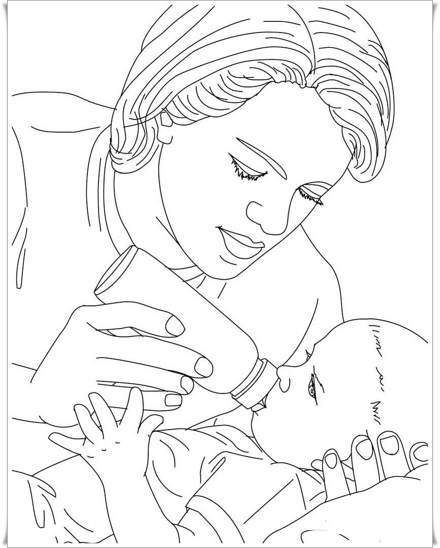 Ausmalbilder Säugling oder Baby Malvorlagen gratis - Ausmalbilder Baby Kostenlos