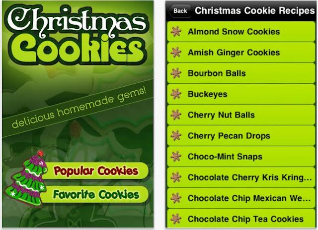 Christmas Cookie Recipes app screenshot