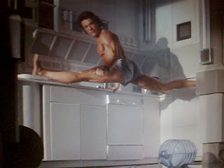 Jean Claude Van Damme in Time Cop doing the splits in underwear