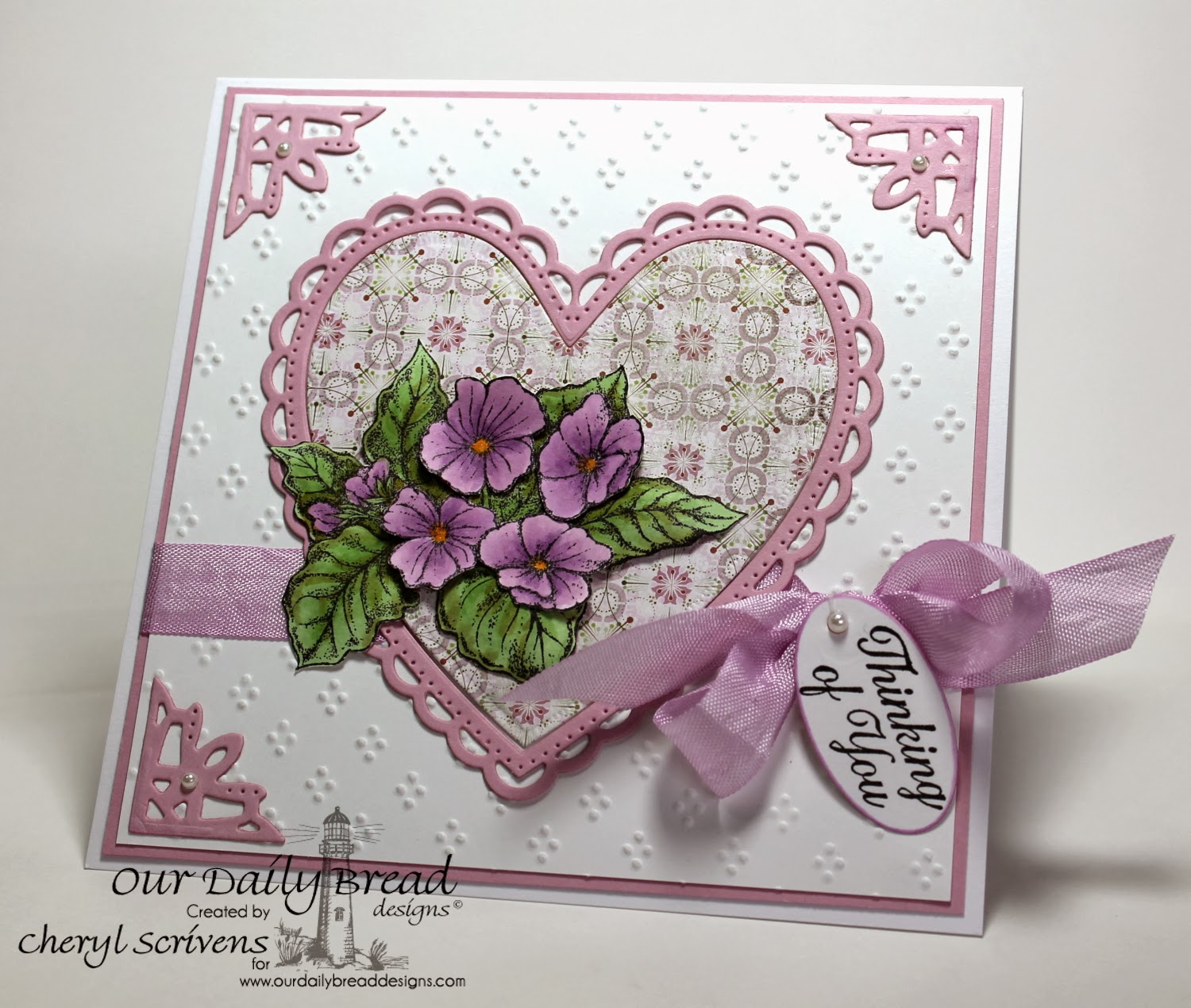 Our Daily Bread Designs, Violet, Ornate Borders Sentiments, ODBD Custom Ornate Heart dies, ODBD Custom Ornate Borders and Flower dies, CherylQuilts, Shining the Light Challenge, Designed by Cheryl Scrivens