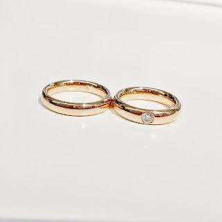 シンプル 結婚指輪 フラージャコー 鍛造 ダイヤ 名古屋