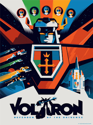 Wizard World Philadelphia Comic Con 2013 Exclusive Voltron Standard Edition Screen Print by Tom Whalen