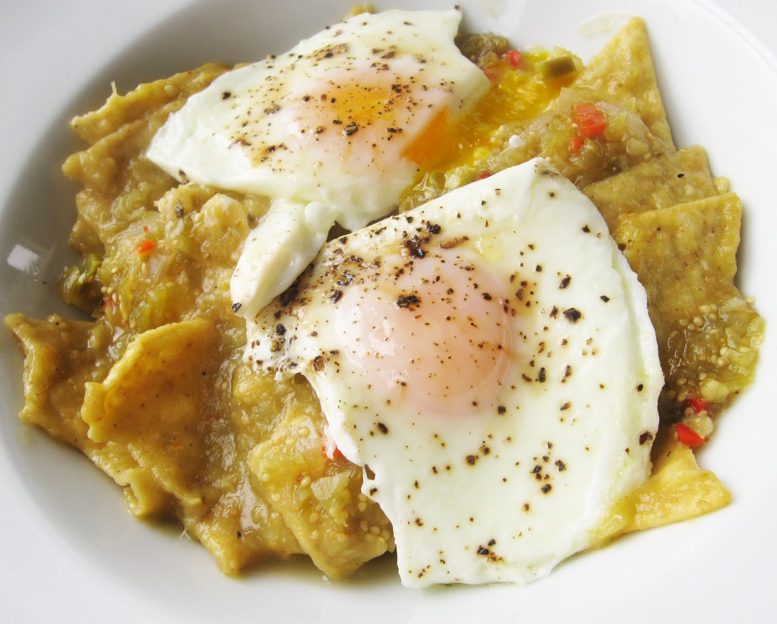 ... and enjoy these chilaquiles -- for breakfast, brunch, OR dinner