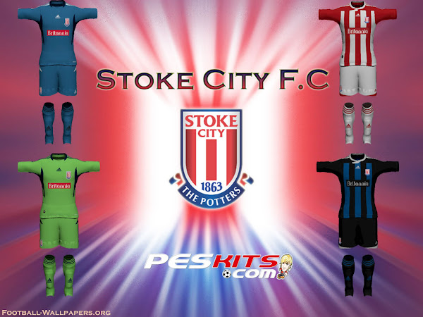 PES 2012 Stoke City Kits 11/12 by DX