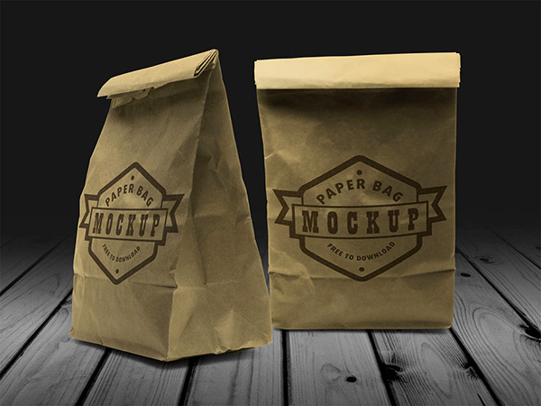 Download Packaging Mockup PSD Terbaru Gratis - Paper Bag Mockup