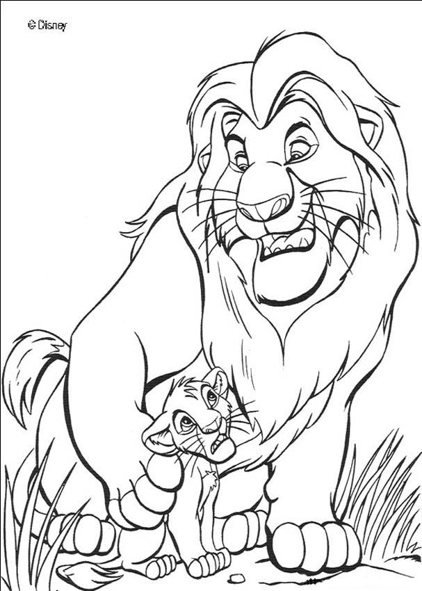Colouring In Sheets Lion King : Lion king coloring pages