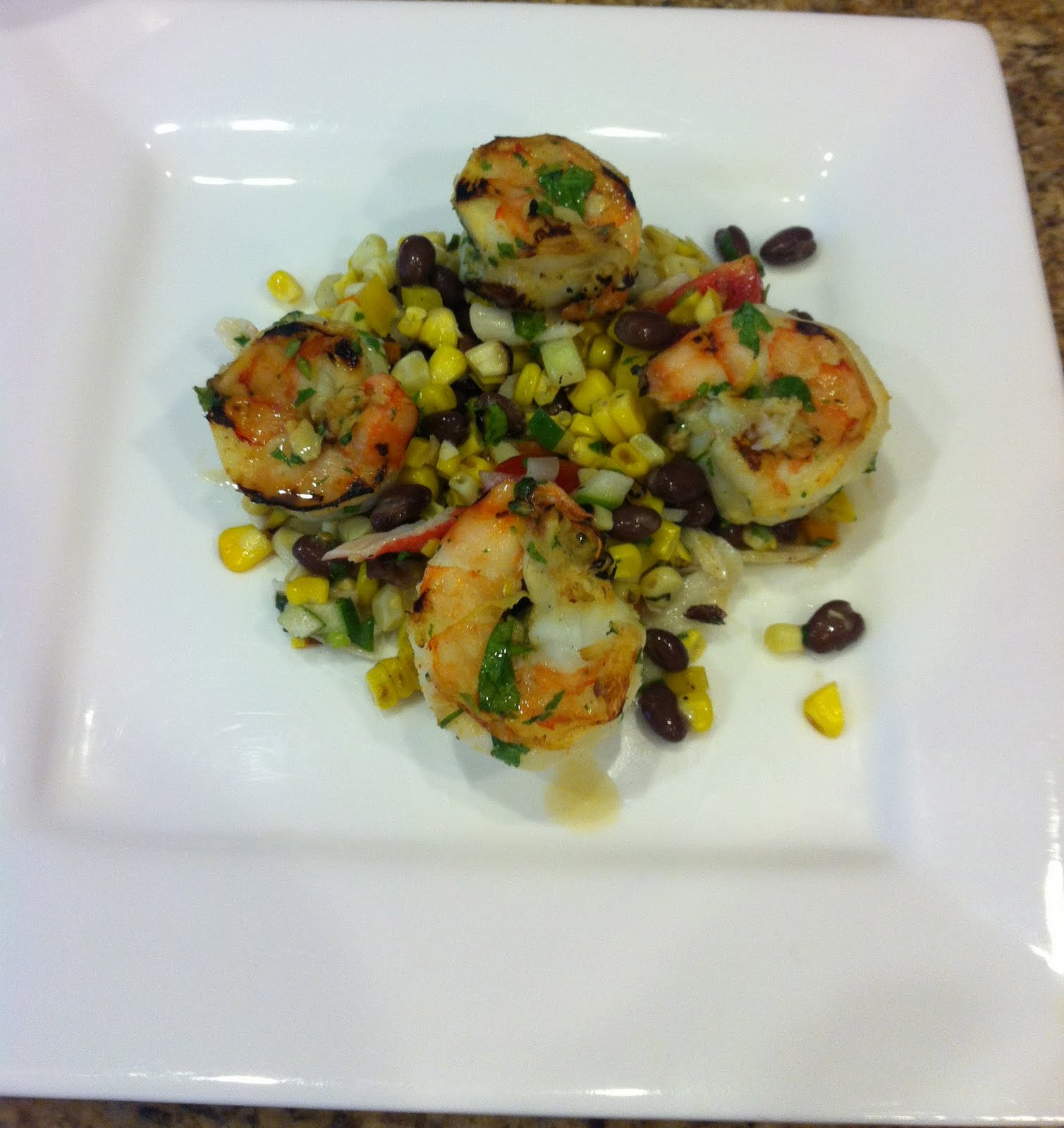 TASTE OF HAWAII: GRILLED SHRIMP WITH BLACK BEAN AND CORN ...