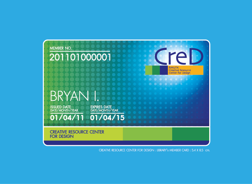 Library\'s Member Card Design : Creative Resource Center for Design ...