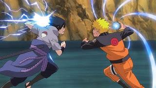 Wallpaper keren Naruto vs Sasuke beradu cakra