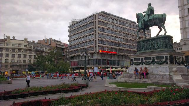 Plaza de la República, Belgrado.