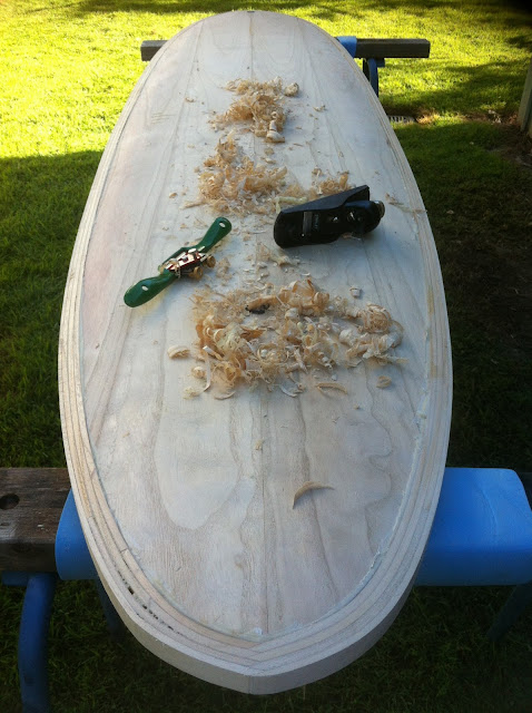 build wooden surfboard